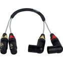 Laird 2-Channel Balanced Right Angle XLR Audio Input Cable for AJA CION Camera -