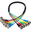 Laird 5-Channel Right Angle 6G-2k 1080i HD-SDI Video Monitoring Output Cable for