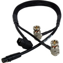 Laird Power & Video Siamese Viewfinder Cable w/Right Angle D-Tap for AJA CION Camera & Cineroid EVF4RVW - 18 Inch