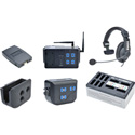 Clear-Com CZ11433 4-Up DX100 System w/ HS15 Headsets and Li-Ion battery