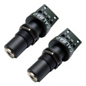 Calrad 30-712K-S-2 4 Conductor Solderless 3.5mm Stereo Jack - Keystone & Chassis Mount (PAIR)