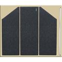 Clearsonic LP5-3D Three Section LidPac Drum Shield Top Dark Gray