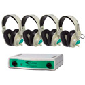 Califone CLS729-4 4 Position Wireless Listening Center - 72.900 mHz Green