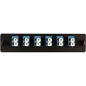 Cleerline SSF-LC12-SM-OS2 Plate (Blue) SM (OS1 & OS2) Duplex LC 12-Fiber Zirconia Ceramic Sleeve