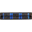 Cleerline SSF-SC12-SM-OS2 Plate (Blue) SM (OS1 & OS2) Duplex SC 12-Fiber Zirconia Ceramic Sleeve