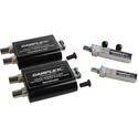Camplex CMX-3GSDI-STF 3G-SDI / DVB-ASI to Fiber Optic Converter Extender with ST and LC SFP Modules