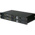 Camplex FiberGig CMX-FG600 2-Channel 3G-HD/SDI Video & GigaBit Ethernet Fiber Optic Transport - opticalCON QUAD I/O