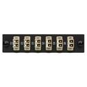 Camplex CMX-MP12LCM 6 Port LC Duplex 50/62.5 Multimode Fiber Adapter Plate Module with Phosphor Bronze Connectors