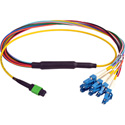 Camplex CMX-MTPSMLC-003 MTP Elite APC Male to 12 LC UPC Duplex External Yellow Single Mode Fiber Breakout Cable-3 Foot