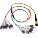 Camplex CMX-MTPSMST MTP Elite APC Male to 12ST UPC Internal Yellow Single Mode Fiber Breakout Cable-18 inch