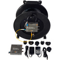 Camplex Tac-N-Go 4K/6G-SDI Fiber Optic Converter/Extender and 1000 Foot Tactical Fiber Cable Reel