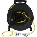 Camplex 4-Channel ST Singlemode Fiber Optic Tactical Snake on Reel 500 Ft