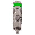 Connectronics Rotary Seal RCA Connector for RG59 - Green