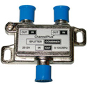 Bi-directional 2-way Splitter/Combiner Passing DC & IR with DTV Compatibility