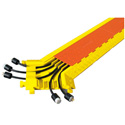 Linebacker CPY5X125-GP 5 Ch Y Cable Protector  Orange Lid/Yellow Ramps
