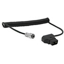Core SWX PTC-BMPC4 Coiled P-Tap to 2-Pin Cable for Blackmagic Pocket 4K - 18 to 48 Inch