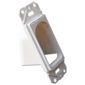 Channel Vision G-1CDW 1-Gang Decorator Cable Port - Screwless Trim Plate Included