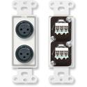 RDL D-XLR2F Dual XLR 3-pin Female Jacks on Decora Wall Plate - Screw type
