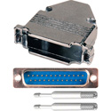 25-Pin HD Male D-Sub Connector with Metal Hood (DP25B and DZ25B)