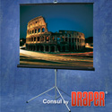 Draper Consul 60x60 Matte White Tripod Projection Screen