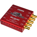 Decimator MD-QUAD Miniature (3G/HD/SD) QUAD SPLIT with HDMI - Version 3