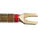 Deluxe Gold Spade Connector -RED