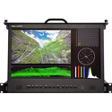 Delvcam DELV-3GHD-17RD 17.3 inch 1RU Rack Drawer 3G-SDI Video Monitor with Cross Conversion - Bstock (Used)