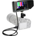Delvcam DELV-HSW5-CC 1920x1080 HD 5.5-Inch Camera-Top LCD Video Monitor with HDMI/SDI Cross Conversion & Waveform