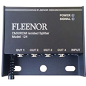 Doug Fleenor Design 124-5 4 Output Bi-directional DMX Splitter with 5-Pin XLR Connectors