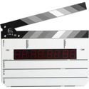 Time Code Slate With Black and White Sticks