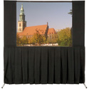 Da-Lite Ultra Velour Masking Panel for Fast-Fold Frames 83 x 144 One Pair - Black