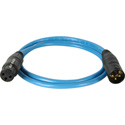 Sescom DMX-3M3F-10/B Lighting Control Cable 3-Pin XLR Male to 3-Pin XLR Female Blue - 10 Foot