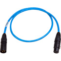 Sescom DMX-3M3F-3/B Lighting Control Cable 3-Pin XLR Male to 3-Pin XLR Female Blue - 3 Foot