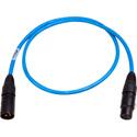 Sescom DMX-3M3F-3/B Lighting Control Cable 3-Pin XLR Male to 3-Pin XLR Female Blue - 3 Foot