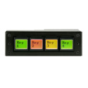 DNF EB-44-RH Four Ethernet Buttons with 4 GPI (in/out) & Serial Port - Horizontal Mount Fits into 1-RU Panel