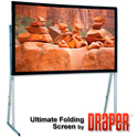 Draper 241185 Ultimate Folding Screen with Heavy-Duty Legs - 161 Inch HDTV CineF