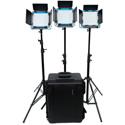 Dracast DRL500SBC3LK S-Series Bicolor LED500 3-Light Kit with Hard Case - V-Mount