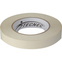 TecNec DSGT-1X25-WE Double Sided Gaffers Tape - 1 Inch x 25 Yards - White