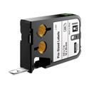 Dymo 1868666 XTL 1/2-Inch x 1-Inch (12 mm x 25 mm) Pre-Sized Label - Black on White