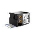 Dymo 1868731 XTL 1/4-Inch x 1-7/8-Inch (6 mm x 47 mm) Pre-Sized Heat-Shrink Tube - Black on White