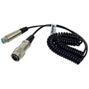 14-Pin-M to 4-Pin XLR-F Sony CCQX Coiled Power Cable 3 Foot