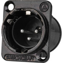 Switchcraft E3MSCB E Series 3 Pin XLR-M Solder Contacts Silver/Black