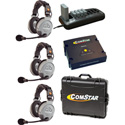 Eartec Comstar XT-3 Complete 3 Person System with Double Headsets