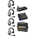 Eartec Comstar XT-4 Complete 4 Person System with 4 Single Headsets