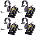 Eartec SLT24G4PS SLT24G 4 Radios w/ Proline Single Headsets
