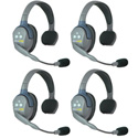 Eartec UL4S UltraLITE 4 Person Intercom System with 4 Single Headsets