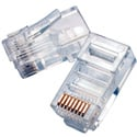 8P8C RJ45 Modular Plug for Round Solid Wire 50 Pack