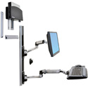 Ergotron 45-253-026 Wall Mount Track for Flat Panel Display - 24 Inch Screen Support - 25 lb Load Capacity - Aluminum