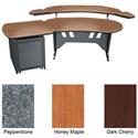 Mid-Atlantic 60 Inch Desk w/Overbridge & Single Bay Rack Dark Cherry