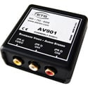 ETS AV900 Baseband BNC Video and RCA Stereo Audio AV Over CAT5 Balun